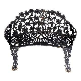 Antique Black Cast Iron Bench