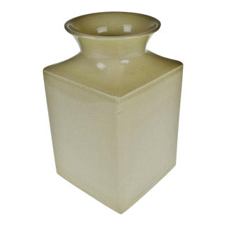 Silhouettes Square Linen Colored Vase in Box by Deb Hrabik For Sale