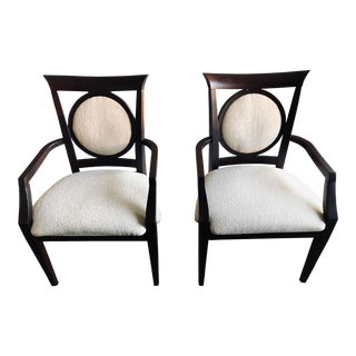 21st Century Vintage Arm Chairs- A Pair For Sale