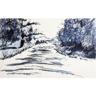 Country Lane Pen & Ink Drawing Study For Sale
