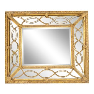 19th C. French Giltwood and Gesso Mirror For Sale