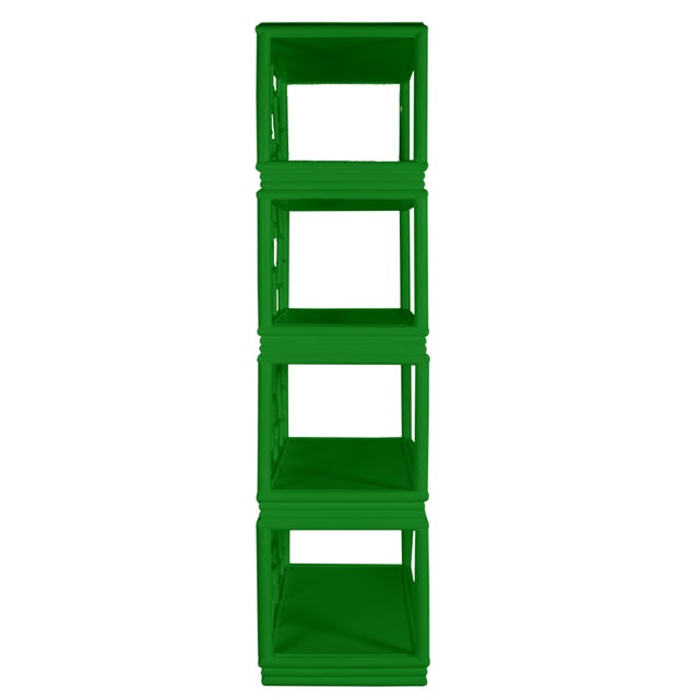 Not Yet Made - Made To Order Tibet Etagere - Bright Green For Sale - Image 5 of 7