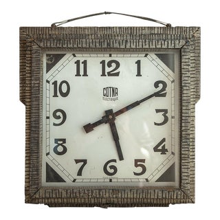 Art Deco French Double-Sided Café Clock For Sale