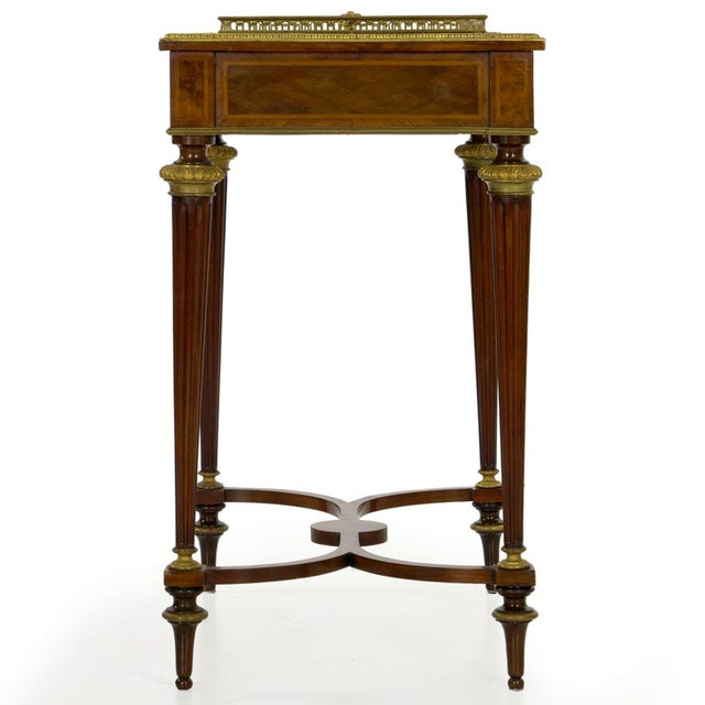 Paul Sormani Antique French Marquetry Wine Serving Accent Table by Paul Sormani & Fils For Sale - Image 4 of 13