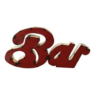 Vintage Metal Rustic Looking Bar Sign