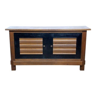 1940s Impressive Oak Charles Dudouyt for La Gentilhommière Sideboard For Sale