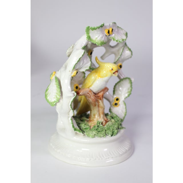 Asian Early 20th Century Italian Porcelain Parrot Encompassed in Leaves For Sale - Image 3 of 8