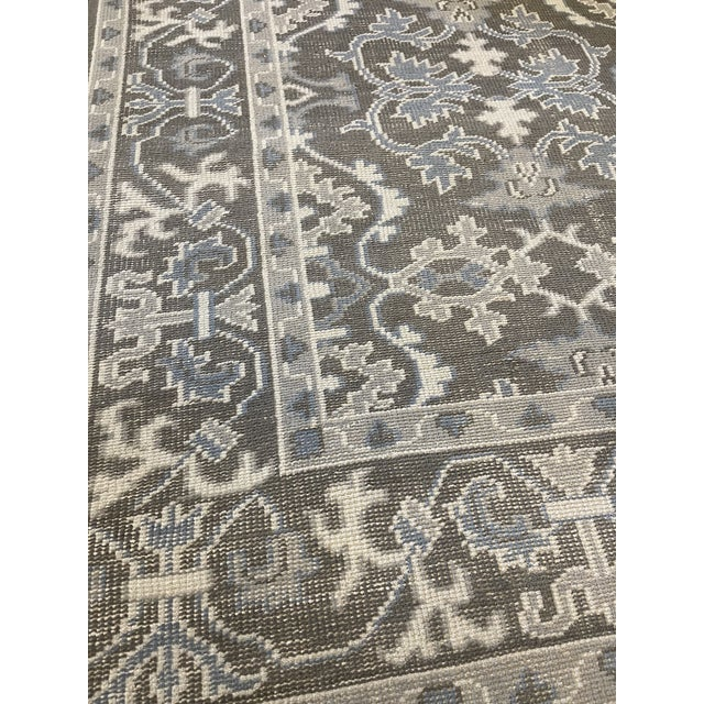 MANSOUR Transitional Mansour Quality Handwoven Wool Rug - 8' X 10' For Sale - Image 4 of 5
