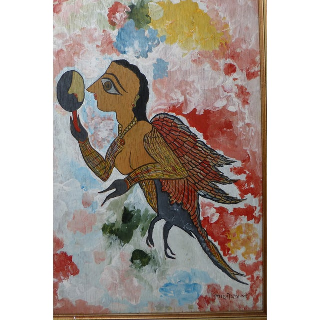 Figurative Mid-Century Modern Judaica Folk Art Painting For Sale - Image 3 of 11