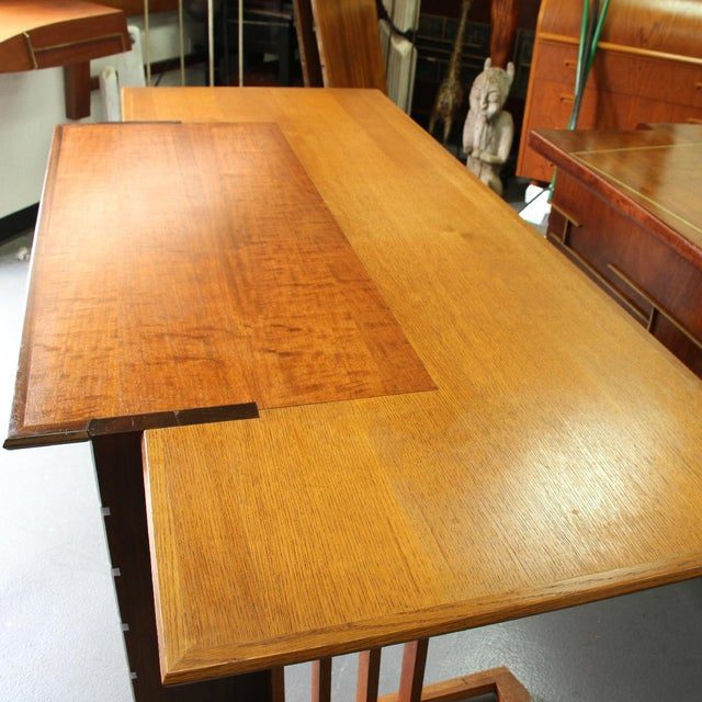 Frank Lloyd Wright Rare 1945 Unison Desk and Chair by Frank Lloyd Wright For Sale - Image 4 of 5