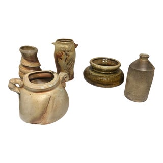 5 Assorted Pieces of Florida Pottery by Same Deceased Florida Artist For Sale