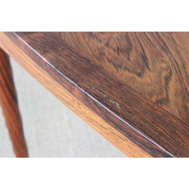Brown Danish Rosewood Table, 1960s For Sale - Image 8 of 10