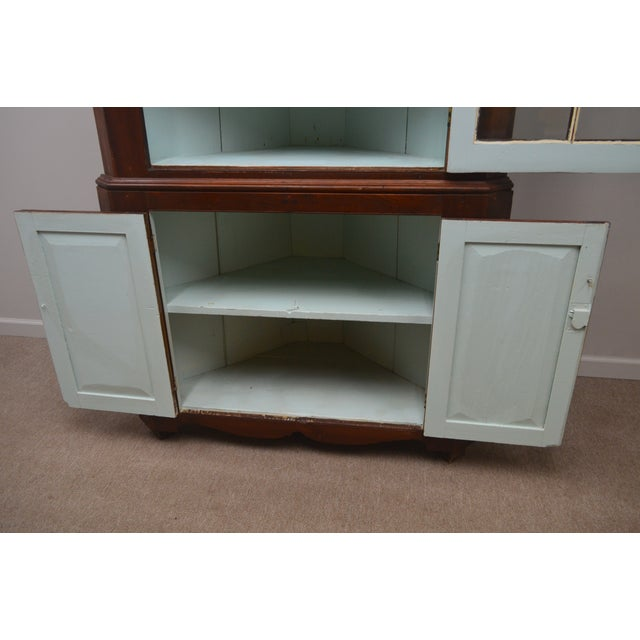 19th Century Antique Pine China Cabinet For Sale - Image 9 of 12