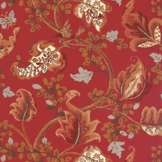 Sample - Schumacher Fox Hollow Wallpaper in Tomato and Brass For Sale