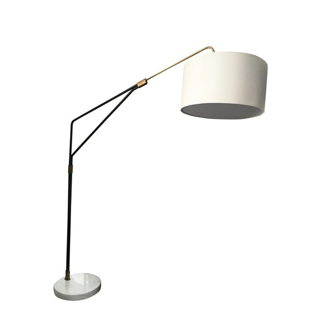 Mid-Century Style Arc Floor Lamp - Image 5 of 5