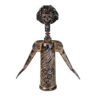 Vintage Bacchus Silverplate Wine Opener by Godinger For Sale