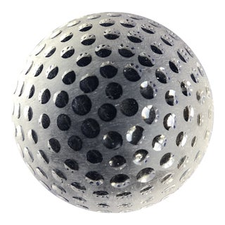 Tiffany & Co. Crystal Golf Ball Paperweight For Sale