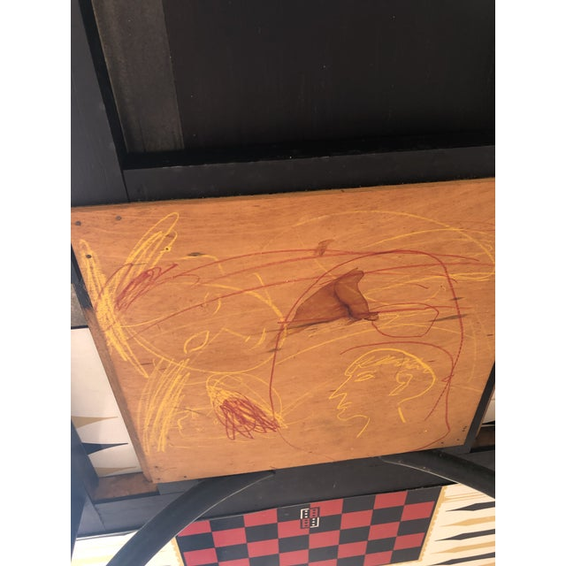 1950s Vintage Novelty Bamboo Game Table For Sale - Image 9 of 10
