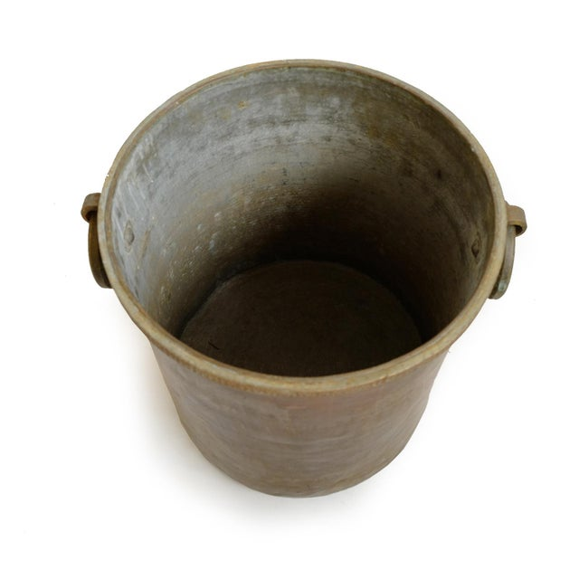 Early 20th Century Antique Brass & Copper Hammered Pot For Sale - Image 5 of 8
