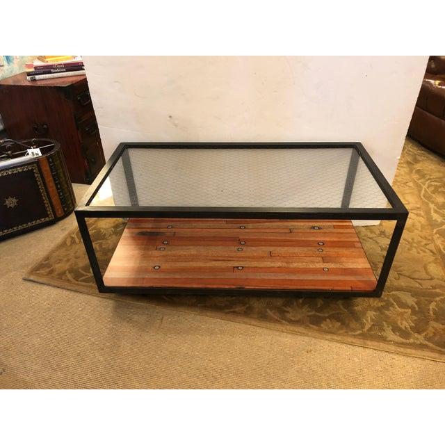 Vintage Custom Industrial Coffee Table For Sale - Image 9 of 9