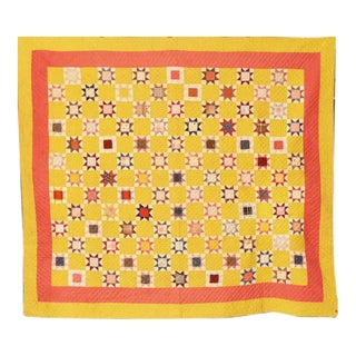 American Pieced Star Quilt For Sale