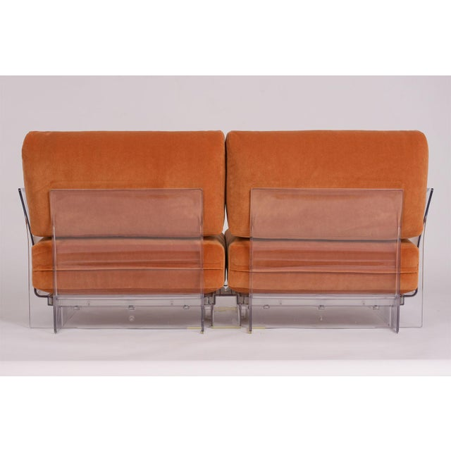 Pair of Lucite Love Seats/ Sofas by Piero Lissoni for Kartell For Sale - Image 12 of 13