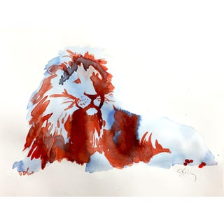 Blue Lion Contemporary Painting For Sale
