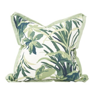 Kenneth Ludwig Chicago Bermuda Bay Palm Pillow For Sale