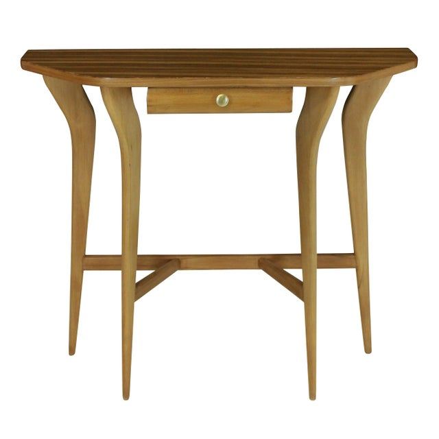 Italian A Stylish Italian Console Table in Pale Wood For Sale - Image 3 of 3