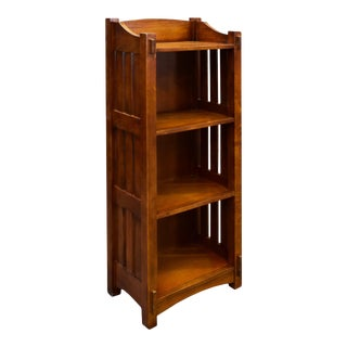 Crafters and Weavers Mission/Arts and Crafts Style Open Bookcase For Sale