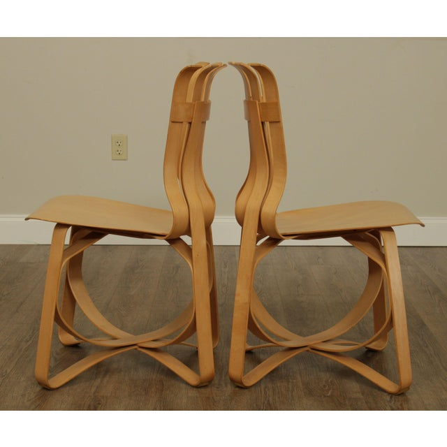"1990s Frank Gehry for Knoll Bent Wood Pair ""Har Trick"" Chairs For Sale - Image 5 of 13"