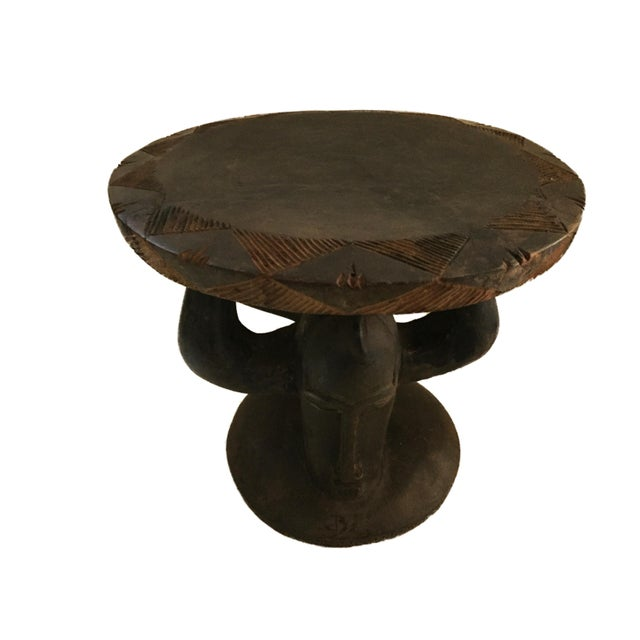 """Superb African Baga Low Stool Guinea 12"""" H For Sale - Image 9 of 12"""