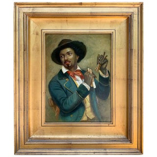 Black Americana Portrait of a Musician by N. Bingham For Sale