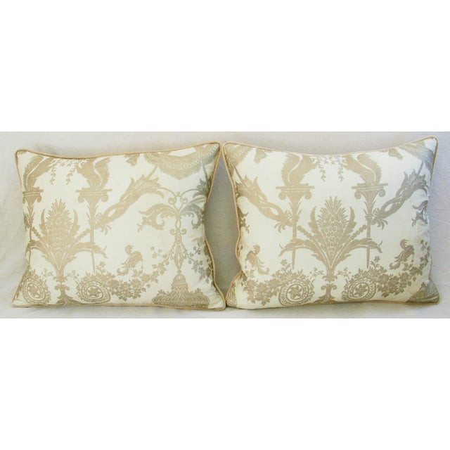 Designer Italian Fortuny Lamballe Pillows - Pair - Image 3 of 11