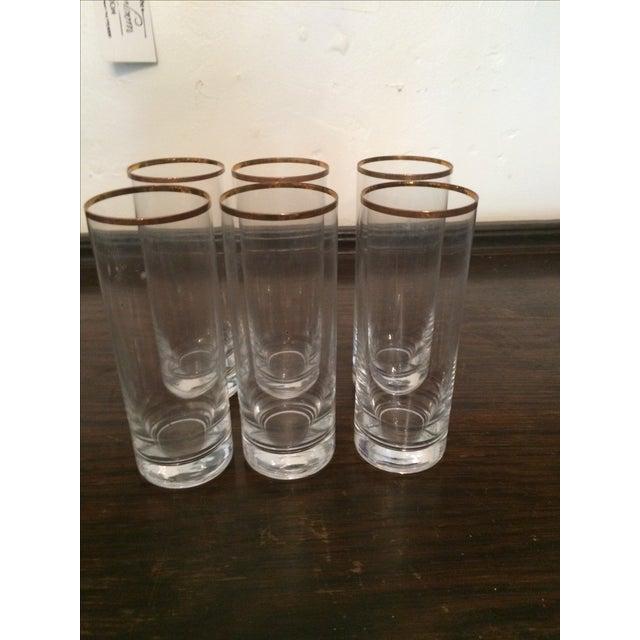 Vintage Gold Rimmed Tom Collins Glasses - Set of 6 - Image 2 of 3