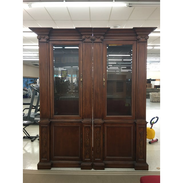 Metal Grand Custom Book Shelves Curio Display Cabinets - a Pair For Sale - Image 7 of 7