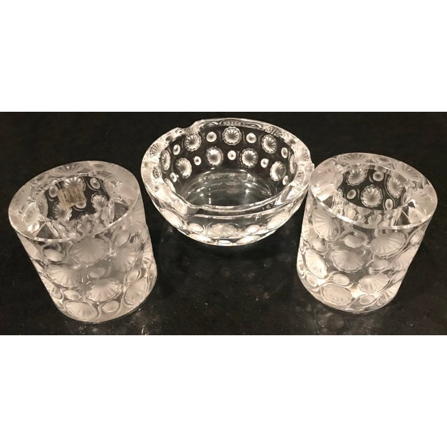 1920s 1920s Antique Lalique Tokyo Ashtray and Cigarette Holders - 3 Pieces For Sale - Image 5 of 11