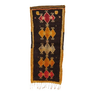 Vintage Moroccan Boujad Rug - 2′2″ × 5′9″ For Sale