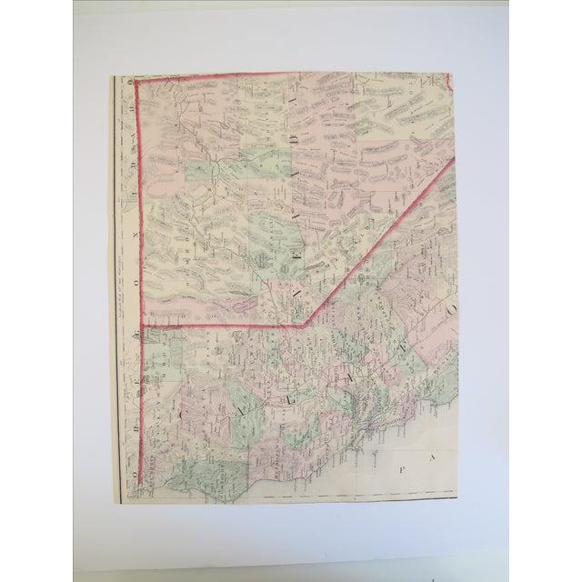 Map of Oregon And Washington Print - Image 3 of 3
