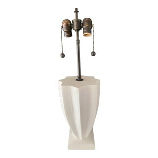 Art Deco Style Plaster Lamp in the Manner of Jean Michel Frank For Sale