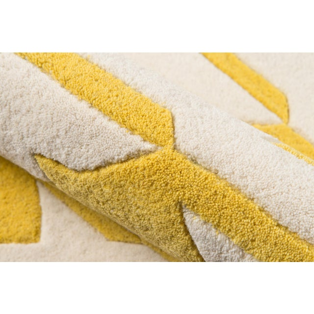 Contemporary Momeni Delhi Hand Tufted Yellow Wool Area Rug 5' X 8' For Sale - Image 4 of 6