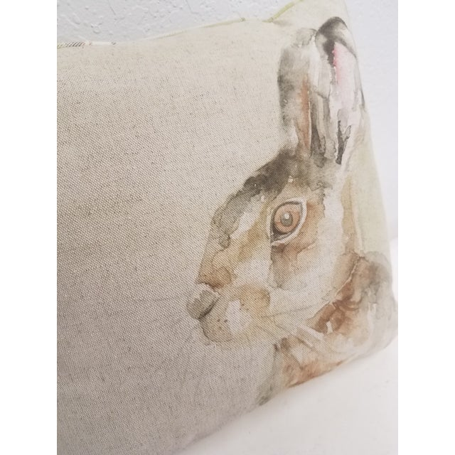 Rabbit Pillow - Made in Wales, United Kingdom For Sale In Dallas - Image 6 of 10