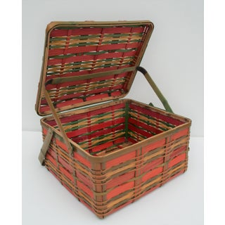 Vintage Japanese Wicker Basket Preview