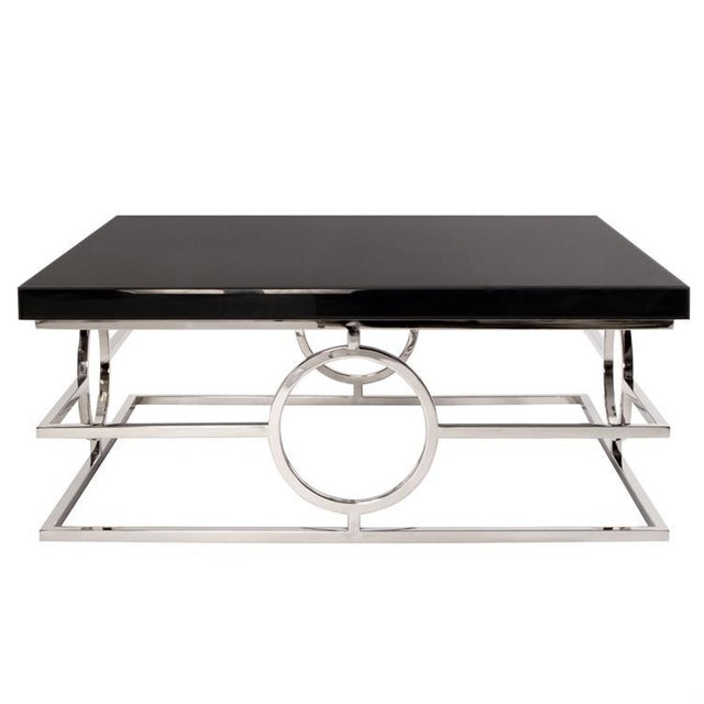 Contemporary Kenneth Ludwig Cirle Stainless Steel Coffee Table For Sale - Image 3 of 3