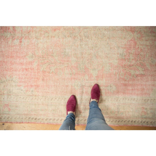 """Country Vintage Distressed Oushak Carpet - 6'2"""" X 10'8"""" For Sale - Image 3 of 13"""