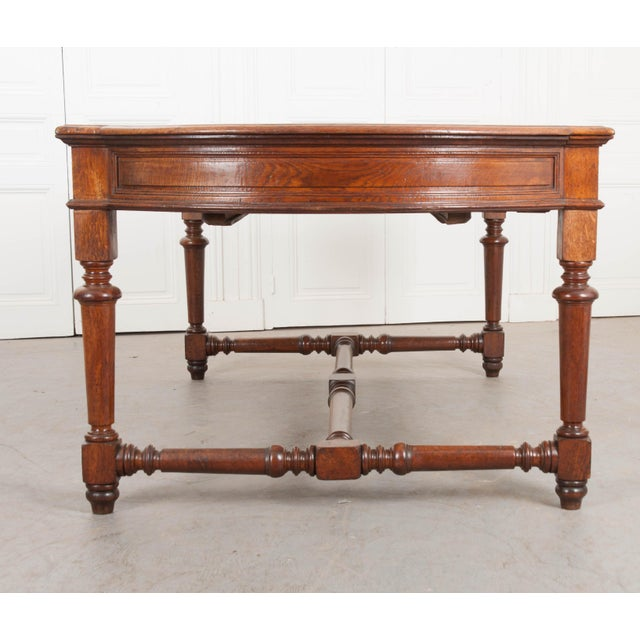 19th Century French Oak Sewing Table For Sale - Image 4 of 13