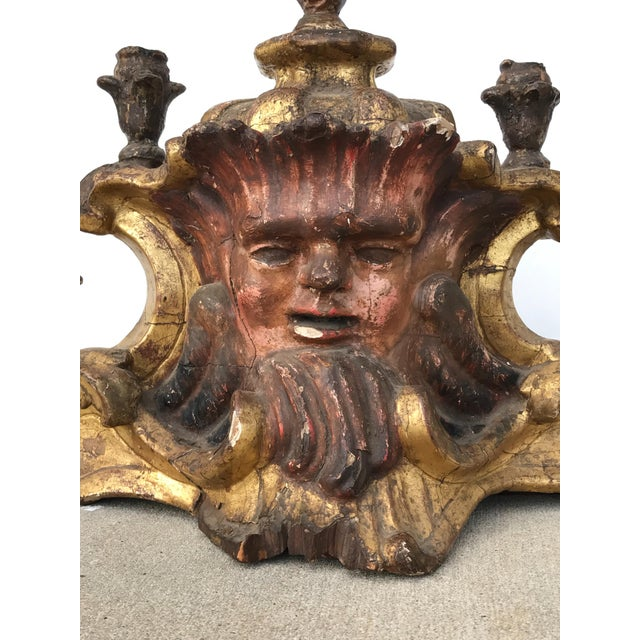 Michael Taylor Early 18th Century Antique Painted Candelabra For Sale - Image 4 of 6