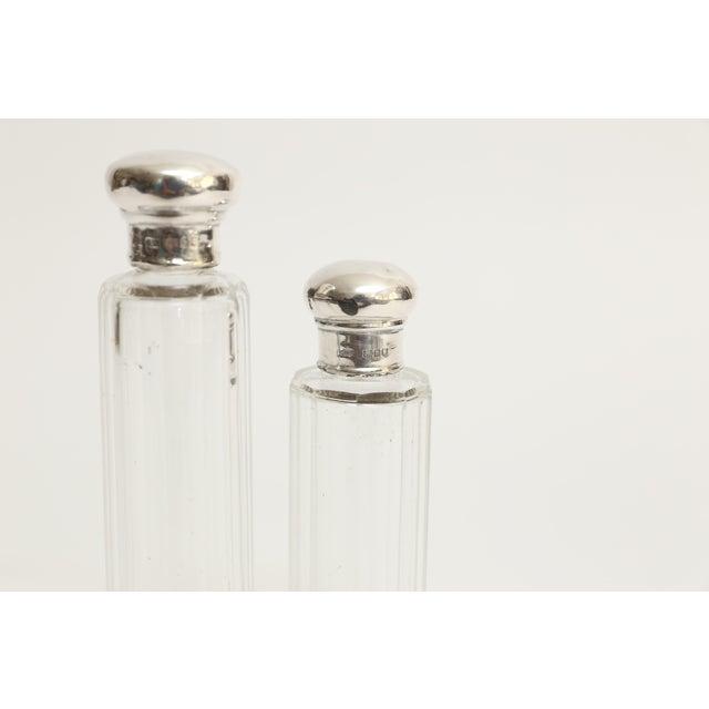 Antique Sterling & Crystal Perfume Bottles, Set of 2 For Sale - Image 4 of 6