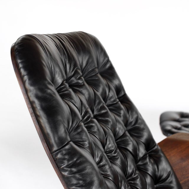Animal Skin 1960s Vintage 1st Edition Mr Chair by George Mulhauser for Plycraft Leather Lounge Chair For Sale - Image 7 of 12