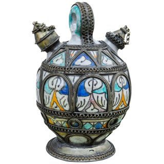 Antique Moorish Water Vessel For Sale